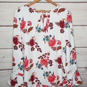 LOFT Floral Blouse Size L